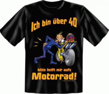 Geburtstag T-Shirt - Motorrad mit 40