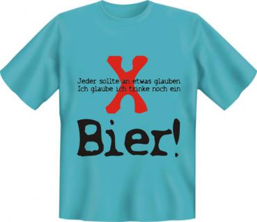 T-Shirt - Glaube an Bier - Vorschau 1