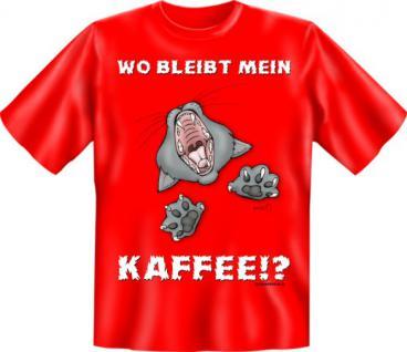T-Shirt - Kaffee Katze