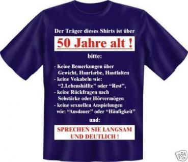 geil bedruckte Geburtstag Fun T-Shirts T Shirt - Langsam mit 50 - Spass Geschenk