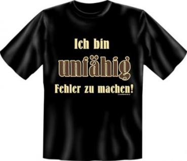 Fun T-Shirt - Ich bin unfähig - Vorschau 1
