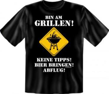 Grill T-Shirt - Bin am Grillen