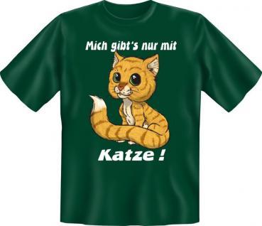 T-Shirt - Mich nur mit Katze - Vorschau