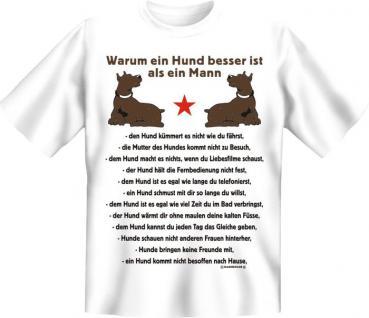 T-Shirt - Hund besser als Mann - Vorschau