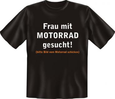 Biker T-Shirt - Frau mit Motorrad