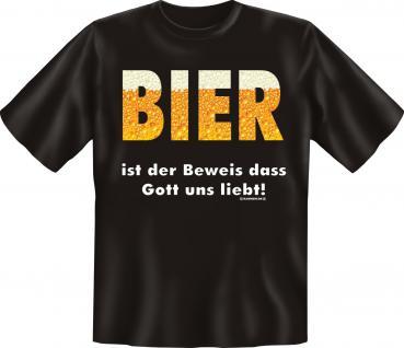 Bier T-Shirt - Gott liebt uns - Vorschau 1