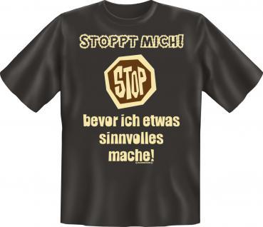Fun T-Shirt - Stoppt mich - Vorschau 1