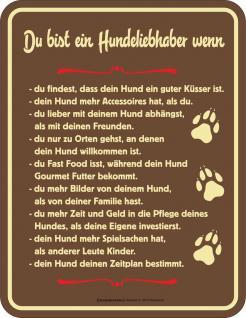 Blechschild Ein Hundeliebhaber Fun Schild Hund Alu geprägt bedruckt rostfrei