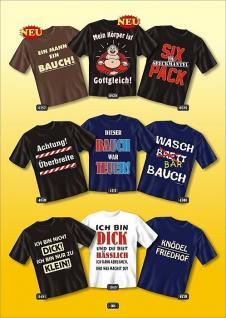 Fun Collection T-Shirt Dick Fett Diät Bauch XXL Shirt Geschenk Auswahl bedruckt