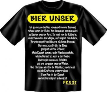 geil bedruckte Fun T-Shirts Shirt - Bier Unser Prost - Geburtstag Spass Geschenk