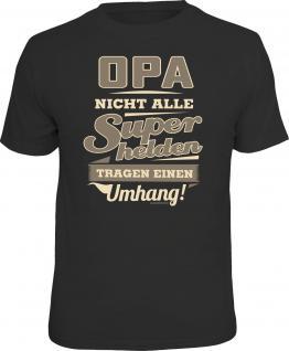 Geburtstag T-Shirt Opa - Superheld ohne Umhang Fun Shirt Geschenk geil bedruckt
