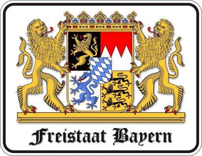Fun Schild Alu Blechschild bedruckt + geprägt - Freistaat Bayern - Oktoberfest