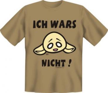 geil bedruckte Fun Shirts T-Shirt - Ich wars nicht - Geburtstag Spass Geschenk