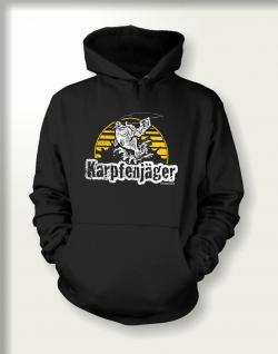 Angler Sweatshirt mit Kapuze - Karpfen Jäger