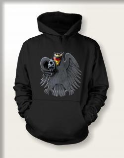 Sweatshirt mit Kapuze - Bundesadler mit Revolver - Vorschau