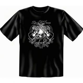 geil bedruckte Musik T-Shirts Shirt mit Gitarre - Rock'n Roll - Geschenk