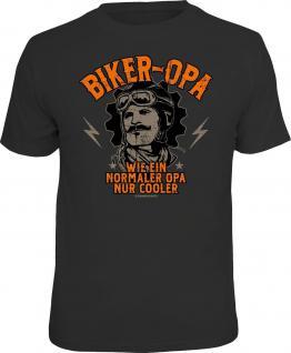 Geburtstag T-Shirt Cooler Biker-Opa Biker Fun Shirt Geschenk geil bedruckt