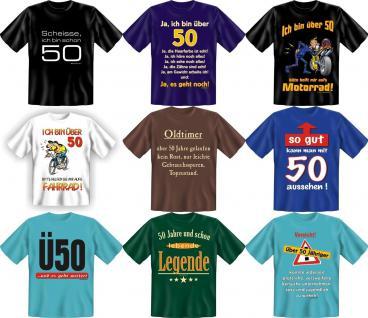 Fun Collection T-Shirt 50 Jahre Fünfzig 50ter Geburtstag Shirts Auswahl bedruckt