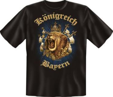 bedrucktes Fun T-Shirt Shirts - Königreich Bayern - Oktoberfest München Löwe