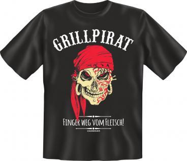 Griller Fun T-Shirt Grillpirat Geburtstag Geschenk Grill Shirt geil bedruckt
