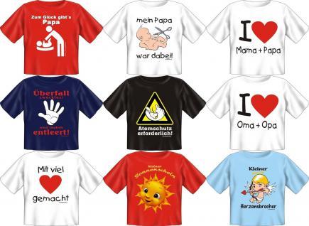 Fun Collection T-Shirts Baby-Shirt Baby Shirt Geschenk Auswahl lustig bedruckt