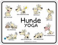 Fun Schild - Hunde Yoga Blechschild
