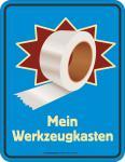 Fun Schild - Mein Werkzeugkasten Tape Blechschild