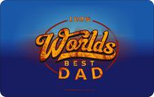 Geburtstag Frühstücksbrett - 100 % Worlds Best Dad