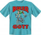 Fahrrad T-Shirt - Bikergott Biker Gott