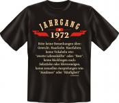 Geburtstag T-Shirt - Jahrgang 1972