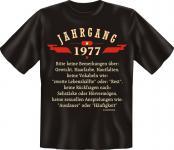 Geburtstag T-Shirt - Jahrgang 1977
