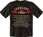 Geburtstag T-Shirt - Jahrgang 1982