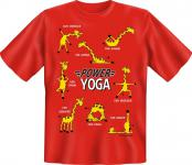 Fun T-Shirt - Power Yoga Giraffe