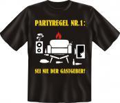 T-Shirt - Partyregel Nr. 1