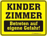 Warnschild - Kinderzimmer