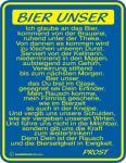 Fun Blechschild - Bier Unser
