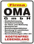 Fun Blechschild - Oma GmbH