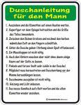 Fun Blech Schild - Duschanleitung Mann