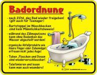 Fun Blech Schild - Badordnung