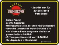 Warnschild - Teeniezone