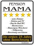 Fun Blechschild - Pension Mama