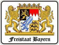 Blechschilder Wappen - Freistaat Bayern