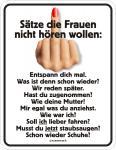 Fun Blechschild - Keine Frauensätze