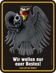 Fun Blechschild - Bundesadler