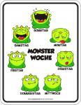 Fun Schild - Monster Woche