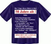 Geburtstag T-Shirt - Langsam mit 50