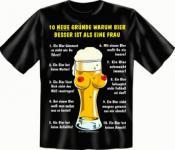 Fun T-Shirt - 10 Gründe für Bier