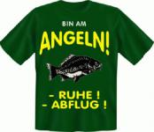 Angel T-Shirt - Bin am Angeln Angler