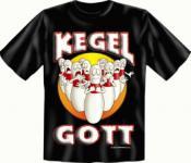 Kegler T-Shirt Kegel Gott Kegelgott