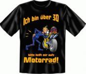 Geburtstag T-Shirt - Motorrad mit 30